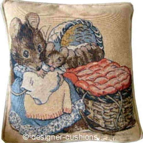 Beatrix Potter Hunca Munca Tapestry Cushion Cover