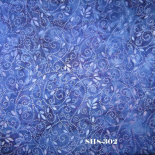 Java Batik SHS-302 Blue Spirals Quilt Fabric