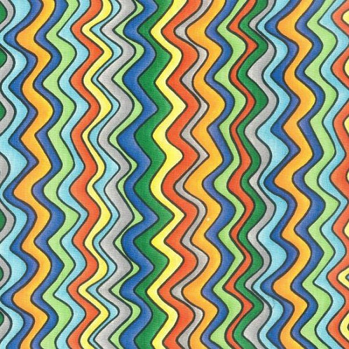 Nutex Novelty Jurassic Wavy Stripe Quilt Fabric 89210