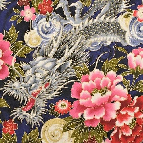 Quiltgate Hyakka Ryoran Col 03 Quilt Fabric