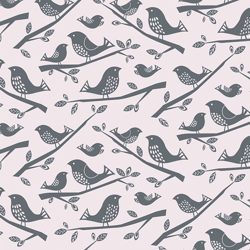 Nutex Leafy Meadow Birds 89990 Col 1 Quilt Fabric