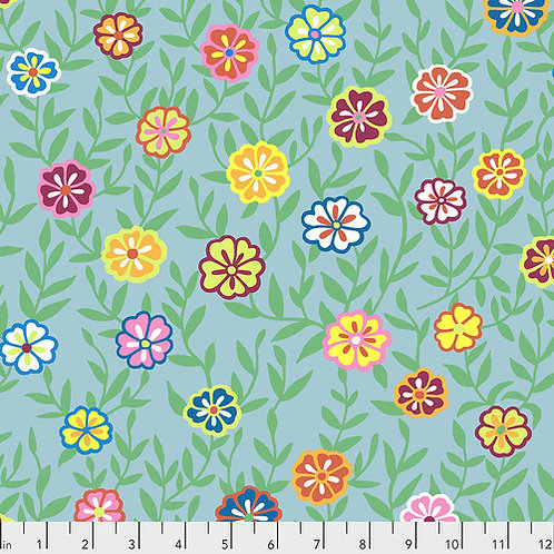 Kaffe Fassett Feb2020 - Busy Lizzy PWGP175 TURQUOISE Quilt Fabric