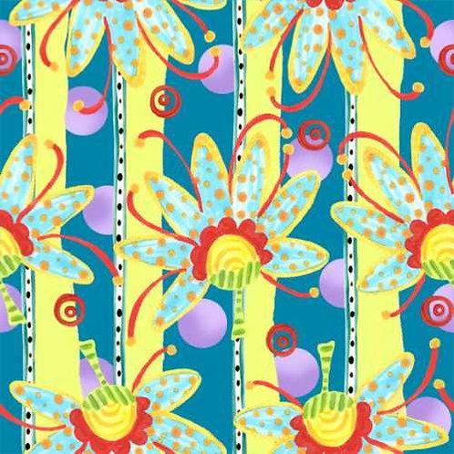 Tussie Mussie Jennifer Heyman 3JHC1 Quilt Fabric