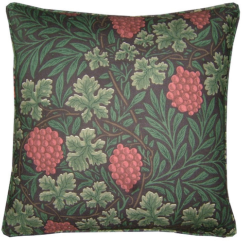William Morris Vine Black Cushion Cover