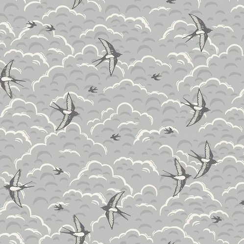 Makower 'Grove' Swallows 93480 Col2 Quilt Fabric