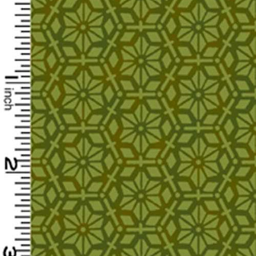 Kona Bay Geisha Dynasty GEIS-23GREEN Quilt Fabric