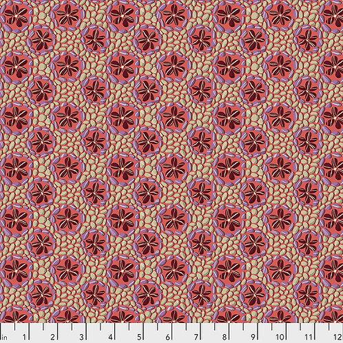 Odile Bailloeul Land Art Stone Flowers PWOB024.ROSE Quilt Fabric