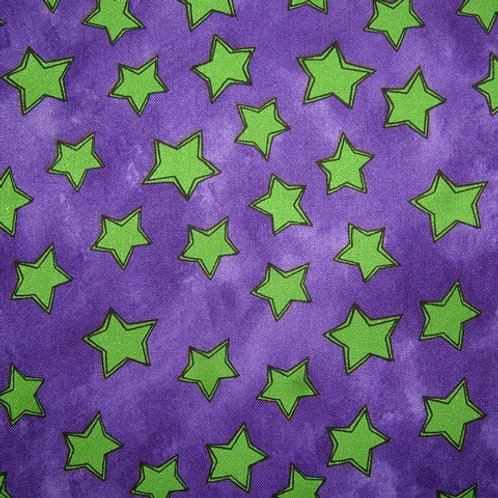 Tara's Brights Purple Stars Quilt Fabric