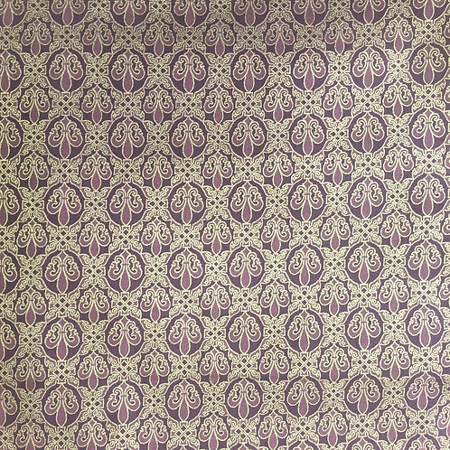 Hoffman Orleans Brown & Gold Fleur de Lys K7139 Quilt Fabric