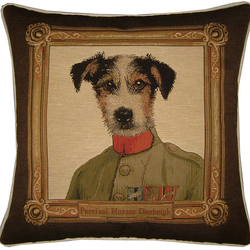 Thierry Poncelet Jack Russell Framed Tapestry Cushion Cover