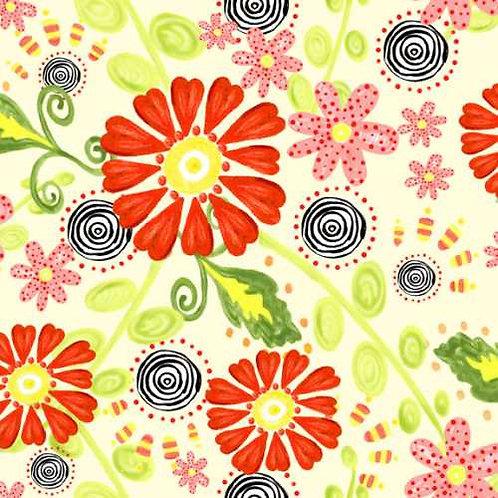 Tussie Mussie Jennifer Heyman 1JHC1 Quilt Fabric