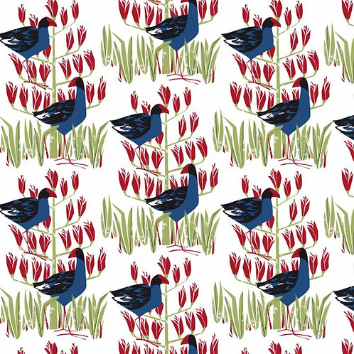 Nutex Novelty Pukeko Patch Quilt Fabric 89360 Col1