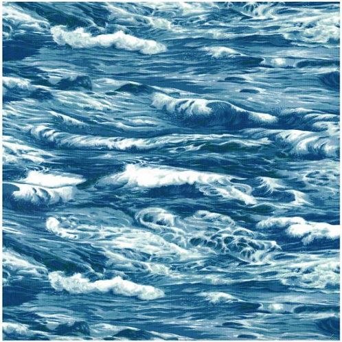 Nutex Kiwiana Sea Waves Quilt Fabric