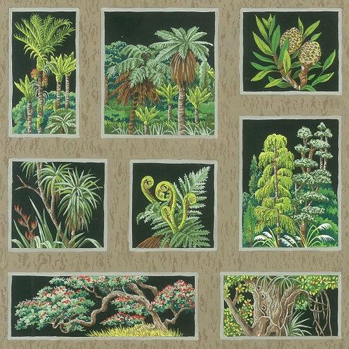 Nutex Kiwiana Botany Squares 89480 Col2 Quilt Fabric
