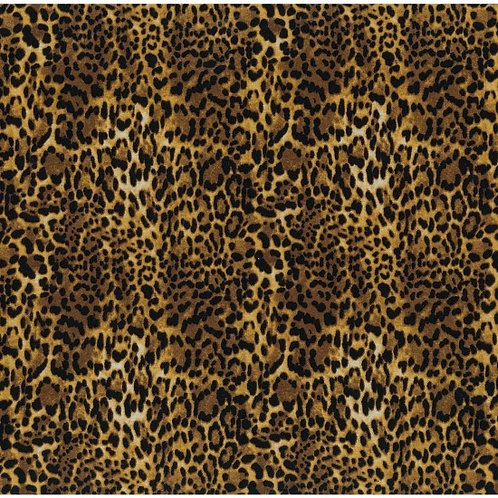 Nutex Jungle Life African Wild Animals Cheetah Skin Novelty Quilt Fabric