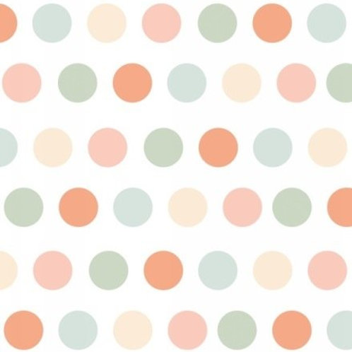 Elizabeth Studio Dots White Pastel Quilt Fabric