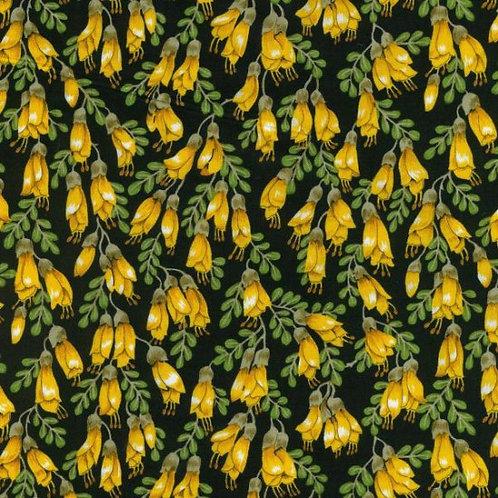 Nutex Kiwiana Kowhai Blossoms Quilt Fabric