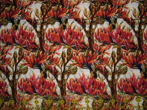 Nutex Kiwiana Harakeke Blossoms New Zealand Flowers Quilt Fabric