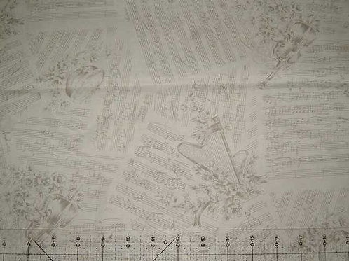 Lecien Musical Theme Quilt Fabric Col 2