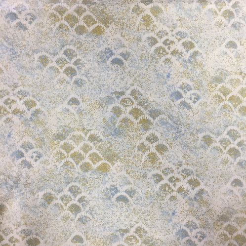 Timeless Treasures Shimmer Blender Water/Gold Quilt Fabric