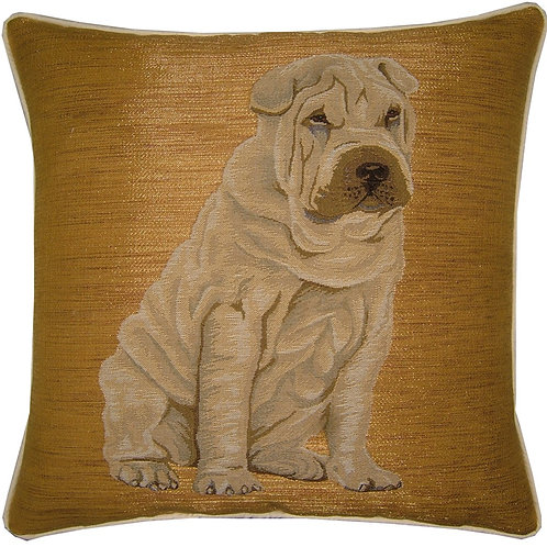 Sharpei Sitting Tapestry Cushion Cover