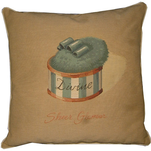 Glamour Powder Puff Blue Divine Tapestry Cushion Cover