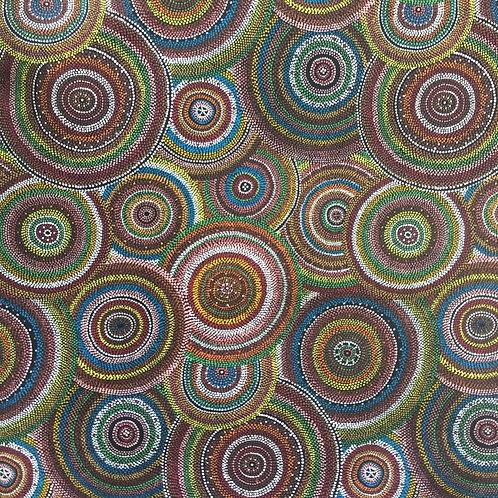 Nutex Australiana Mugungalyi Circles Quilt Fabric