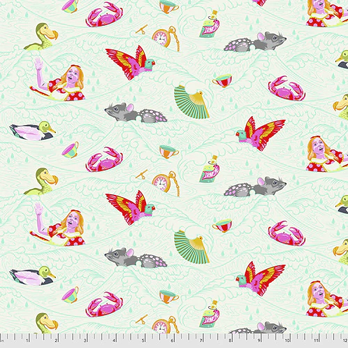 """Tula Pink """"Curiouser"""" Sea of Tears Wonder PWTP162 Quilt Fabric"""