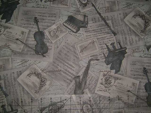 Lecien Musical Theme Quilt Fabric Col 4