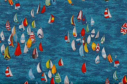 Makower Sea & Yachts Col4 Quilt Fabric