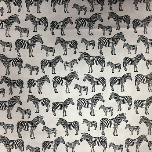 Nutex Puppets Black & White Zebras 23869-5 Quilt Fabric