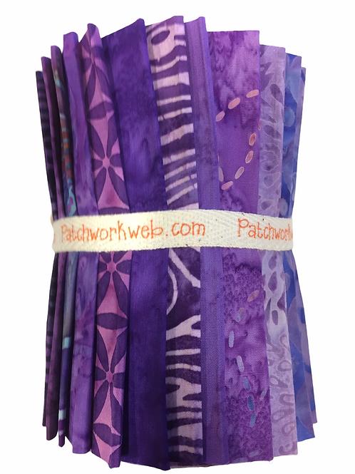 "Batik ""Purple Rain"" Designer Roll - 20 x 5"" x WOF"