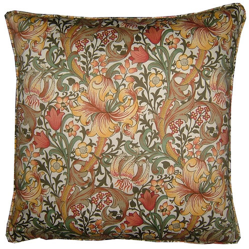 William Morris Golden Lily Minor Yellow Cushion Cover