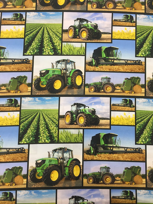 Kennard & Kennard Tractors Scenes 78650 Col3 Quilt Fabric