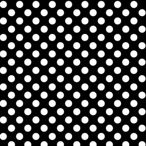 Nutex Novelty Modern Garden Black & White Spot 89150 Col6 Quilt Fabric