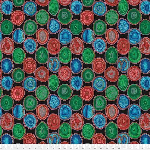 Kaffe Fassett Spring 2019 - Geodes Black PWPJ099 BLACK Quilt Fabric