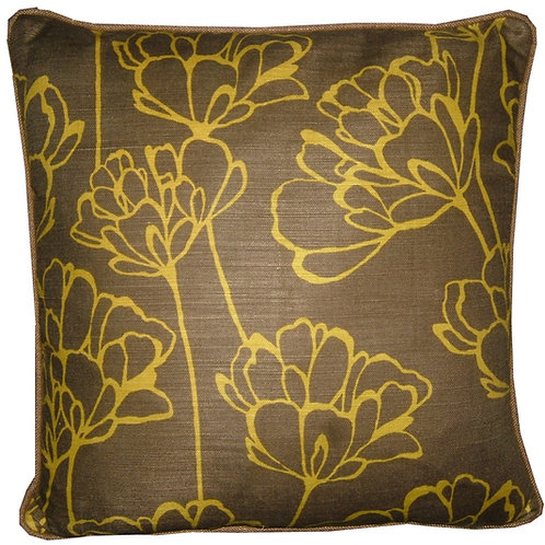 Romo Simonii Khaki & Lime Cushion Cover