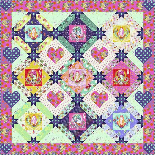 """Tula Pink """"Queen of Hearts"""" Quilt Pattern Free Download pdf"""
