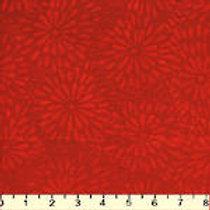 Island Batiks IKF13E-E1 Red Flowers Quilt Fabric