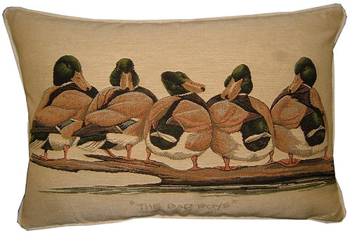 Bad Boys Ducks Tapestry Oblong Cushion Cover