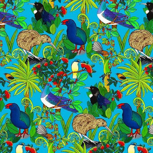 Nutex Kiwiana Flora & Fauna Quilt Fabric 89820