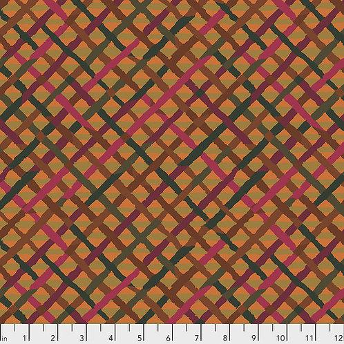 Kaffe Fassett Feb2020 - Mad Plaid PWBM037 RUST Quilt Fabric
