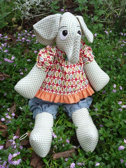 """Melly and Me """"Ellie"""" Elephant Soft Toy Pattern MM042"""