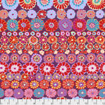 Kaffe Fassett Classics - Row Flowers PWGP169 REDXX Quilt Fabric