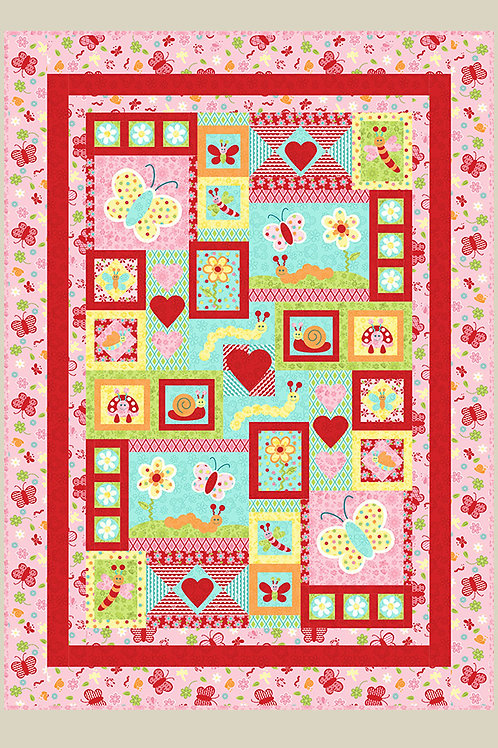 Kids Quilts 'Love Bugs' Single Quilt Pattern