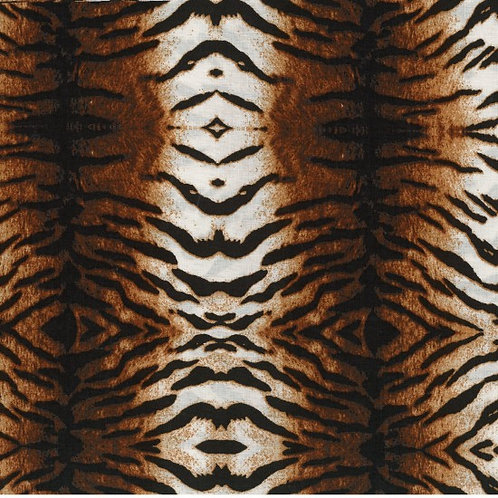 Nutex Jungle Life African Wild Animals Tiger Skin Novelty Quilt Fabric