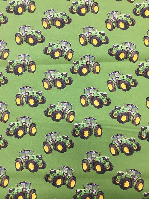 Kennard & Kennard Green Tractors Toss 78650 Col4 Quilt Fabric