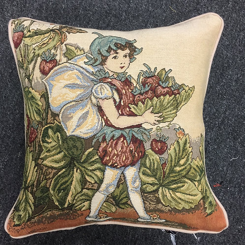 Flower Fairies Strawberry Tapestry Cushion Cover
