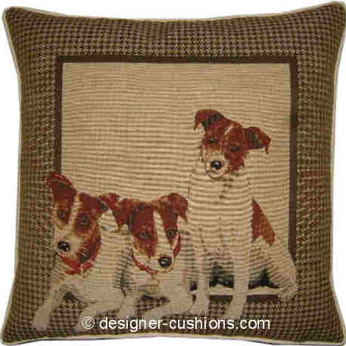 Jack Russell Framed Tapestry Cushion Cover