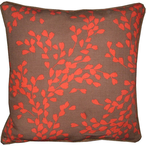 Romo Sappora Red & Chocolate Cushion Cover